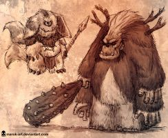 Barka Creature Concepts by MAROK-ART