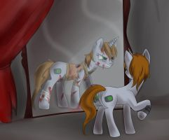 Littlepip in the House of Wacky Reflections by Lanternae