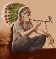 indian chief with iwata by great-master