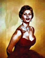 Sophia Loren by peterpulp