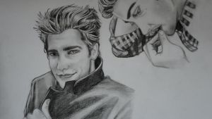 Jake Gyllenhaal draw not finished by Angela-Chiappini