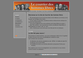Website of 'Le courrier' by Brocoli2