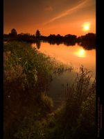 AmberGlow over Moulden Pond II by GMCPhotographics