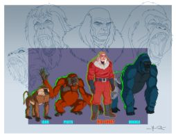 THE RED GHOST and his SUPER APES by Jerome-K-Moore