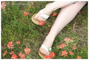 Feet in the Flowers by TheDarkRoom-Photo