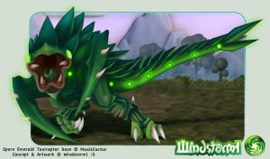 Spore-Emerald Toxiraptor by Windstorm1