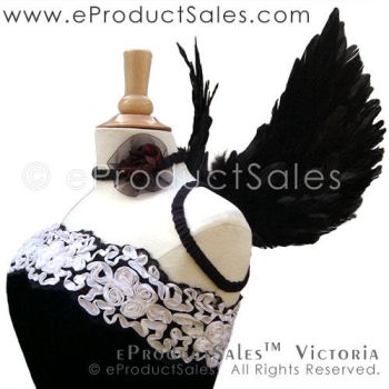 eProductSales Black Victoria Feathered Angel Wings by eProductSales