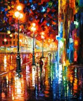 Tempo of the rain by Leonid Afremov by Leonidafremov