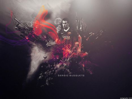 Sergio Busquets // wallpaper by JasinGraphic