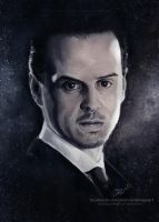 Jim Moriarty - 'Sherlock' | Speedpainting by Jeanne-Lui