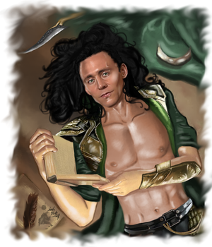 Loki - Before sleeping by LadyMintLeaf