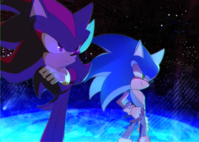 sonic and shadow by holoskas
