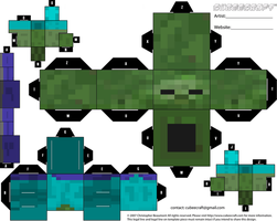 Minecraft Zombie Cubeecraft by Mariorocks655