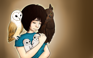 lady w: owls by ditzyRinny