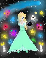 Rosalina and the Lumas by harvestmoonluvr