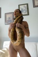 Wenona Nude with Snake 002 by pencildragon
