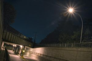Le tunnel - TR by night III by py