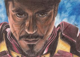 Ironman - colored pencils by Evriale