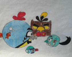 AT: Angry Birds OCs: Marriage by AngryWhiteBird