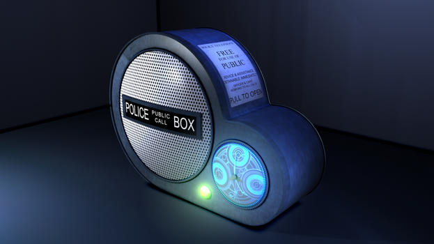 Tardis Radio by Lucius-Ghost