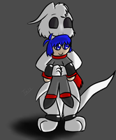 (Art Trade) Havok and Blu by Tails-Crossing