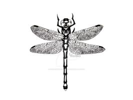 Dragonfly Tattoo Design by nuclear--nachos