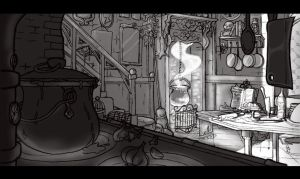 Morticia Addams Kitchen by Sixtine-D