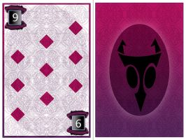 Invader Zim poker game-  9 of diamonds by NeoWolfgang