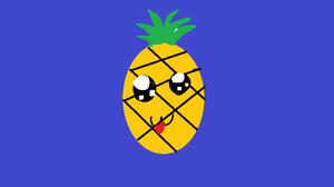 Kawaii Pineapple by jumpingnoodles