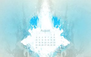 August 2008 Desktop Calendar by kriegs
