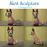 Skrit Sculpture by MidnightAlleyCat