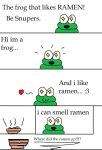 The frog that likes ramen.... by snupers