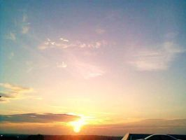 Sunset on Roof by Artixte