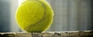 Tennis ball 2560x1024 by dimichael