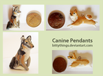 Canine Pendants by Bittythings