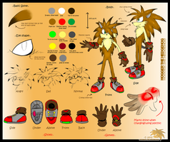 Hogger the Hedgehog::REFERENCE by SpyxedDemon