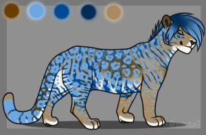 Blue And Brown Lion Adopt- Taken by Shadowdannie