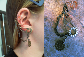 Steampunk Ear Cuff by Zinantis