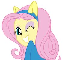 Equestria Girls | Fluttershy Wink by PaulySentry