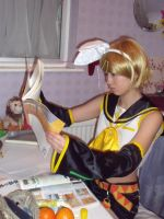 kagamine rin cosplay by lmk-miracle
