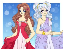 Arianna and Shurei by Sailor-Serenity