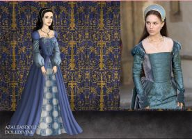 Anne Boleyn-Blue Gown by EriksAngelOfMusic22