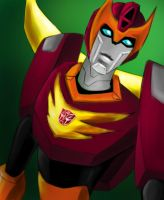Rodimus in good mood by murr-miay
