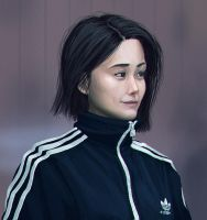Tracksuit Girl 3 by LuckyFK