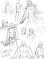 Avengers sketch dump by 23-tiny-wishes