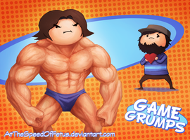 Gam Groomps Fanart: Buff and not so Buff by AtTheSpeedOfFetus