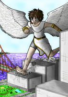 giant playful angel by saber-th