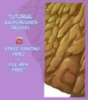 Tutorial Backgrounds(Rocks)-SpeedPainting by BoyBushin