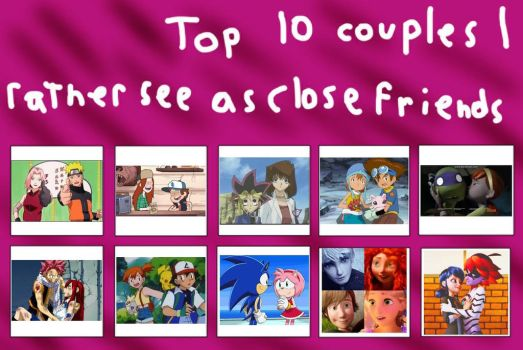 Top 10 Shippings I Like As Close Friends by XxGreenNinjaChickxX