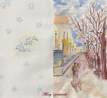 Postcard - both sides (Winter city) by ma-ry2004